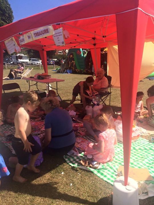 messy church tent